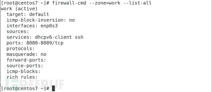 CentOS 7系统使用firewalld防火墙创建包过滤规则